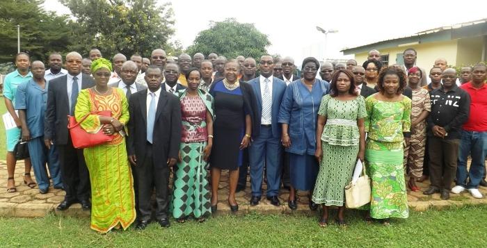 Participants à l'atelier de formation CMU au CHU de Bouaké