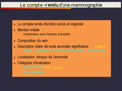 CR de mammographie